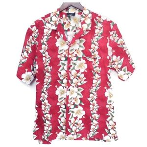 Royal Creations hibiscus floral Red/White Sz XL